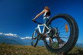 image of biker  - happy Biker - JPG