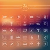 foto of offside  - It is a set of vector icons with unfocused background - JPG