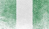foto of nigeria  - Flag of Nigeria with old texture - JPG