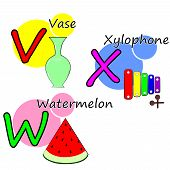 picture of letter x  - the Illustration dedicated to the letters V - JPG