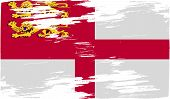 stock photo of sark  - Flag of Sark with old texture - JPG