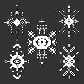 image of tribal  - Vector Tribal elements - JPG