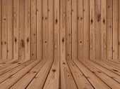 foto of monocots  - brown wood flooring and brown wood wall - JPG
