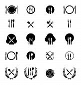 foto of spooning  - Icon vector illustrations of fork - JPG