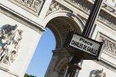 foto of charles de gaulle  - Charles de Gaulle square Paris Ile - JPG