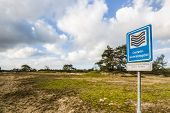 image of groundwater  - display board for groundwater purification area in a protected nature area in the Netherlands - JPG
