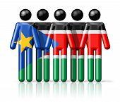 foto of sudan  - Flag of South Sudan on stick figure  - JPG