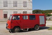 picture of fire brigade  - A fire engine at the  Croatian island Pasman in the Adriatic sea of Croatia - JPG