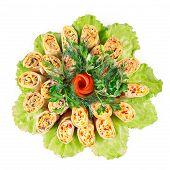 image of crepes  - Savory stuffed crepes  - JPG