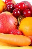image of immune  - Fresh ripe fruits and vegetables concept of healthy food nutrition and strengthening immunity - JPG