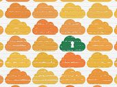 pic of keyholes  - Cloud computing concept - JPG
