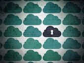 foto of keyhole  - Cloud networking concept - JPG