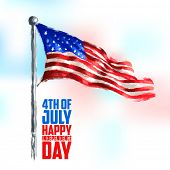 image of happy day  - illustration of Fourth of July background for Happy Independence Day of America - JPG