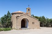 stock photo of chapels  - Small chapel in the province Aragon Spain - JPG