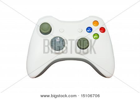 poster of Game Controller On White Background