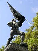 Bürgerkrieg Soldat mit Flagge