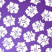 foto of hawaiian flower  - tropical floral print purple - JPG