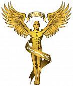 gold chiropractor symbol