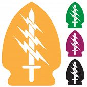 sword lightning special forces icon