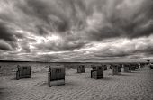 stock photo of labo  - Beach in Laboe near Kiel Northern Germany - JPG