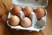 Box Of 5 Eggs