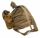 Duffel Bag And Gas Mask In Pouches