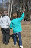 Look Up! Senior Couple Enjoying Nature