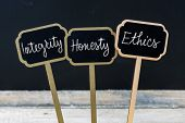 Business Message Integrity, Honesty, Ethics poster