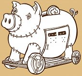 Trojanisches Pferd Piggy bank