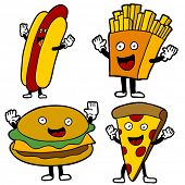 stock photo of french_fried  - Fast Food Characters - JPG