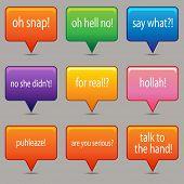 Uma imagem de um windows mensagens coloridas.