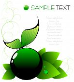 green spring abstract background - vector illustration - jpeg version in my portfolio