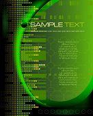 green tech abstract background - vector illustration - jpeg version in my portfolio