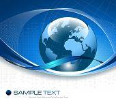 Постер, плакат: Голубой бизнес фон векторные иллюстрации