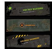 3 banners grungy elegantes