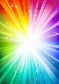 rainbow sunburst background (raster version of img. no. 30834295)