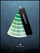 graphic greetings - color swatch christmas tree :)