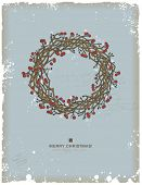 image of christmas wreath  - hand - JPG