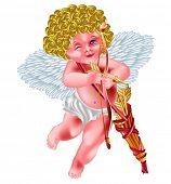 cartão de dia dos Namorados - Cupido