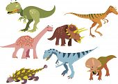 vector dinosaurs set 1