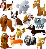 animal Vector set 93: perros