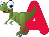 vector dino alphabet: A is for allosaurus