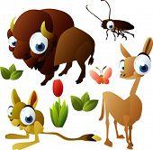 set 2010 animales: cucarachas, llama, Bisonte, jerbos