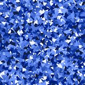 Glitter Seamless Texture. Adorable Blue Particles. Endless Pattern Made Of Sparkling Triangles. Glam poster