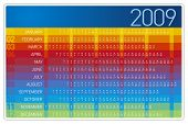 Colorful 2009 Calendar Design