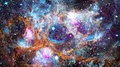 Deep Space Multicolor Nebula Stars And Galaxies. Elements Of This Image Furnished By Nasa. poster
