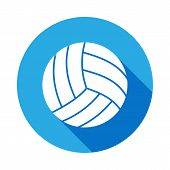 Volleyball Icon With Long Shadow. Element Of Sport Icon For Mobile Concept And Web Apps. Isolated Vo poster