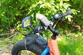 Fat Bike-mountain Bike With Thick Tires In The Forest poster