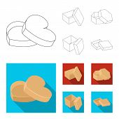 Box, Container, Package, And Other  Icon In Outline, Flat Style.case, Shell, Framework Icons In Set  poster