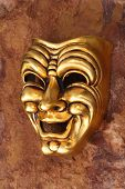 Golden Venetian Mask